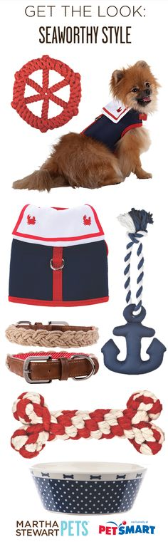 Get The Look: Seaworthy Style with #MarthaStewartPets at #PetSmart! #nautical