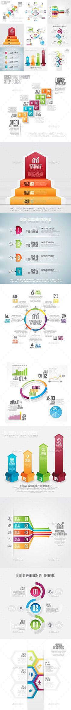 Infographic Set Template #design Download: http://graphicriver.net/item/infographic-set-18/12999644?ref=ksioks