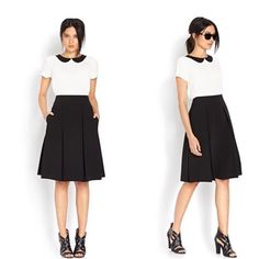 Forever 21 skirt Forever 21 black pleated knee length skirt new with tags size small Forever 21 Skirts A-Line or Full