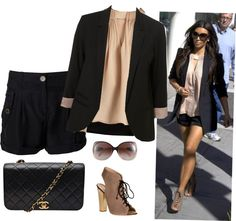"""""""Style steal: Kim Kardashion"""" by easylovexx ❤ liked on Polyvore"""