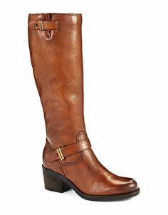 Clarks Mojita Crush Riding Boots Cognac