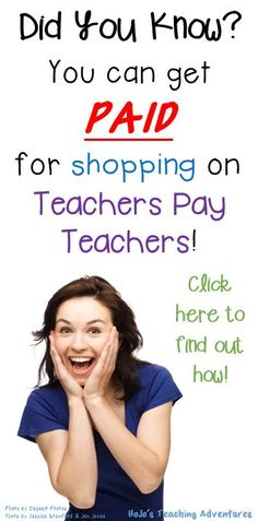 You Can Get MONEY BACK for Shopping on Teachers Pay Teachers! Click to learn more!