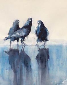 The Three Graces by Sarah Yeoman Watercolor ~ 30 x 24