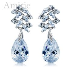 anniversary Exaggerated retro Austria Crystal Earrings for women AAA zirconia earring jewelry women accessories