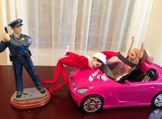 Thank goodness for the action figures…   Community Post: 22 Naughty Things The Elf On A Shelf Is Doing While You're Not Home