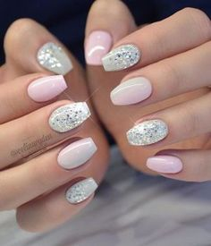 Pretty Diamond Nail Designs #diamond #nailart #nails