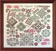 Peppermint Pig by Tempting Tangles  Stitching Bits and Bobs