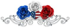Red, White & Blue Roses glitter usa flag america patriotic red white blue 4th of july independence day