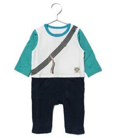 Orobianco baby(オロビアンコベビー)の騙し絵BAGカバーオール(ロンパース)|ブルー