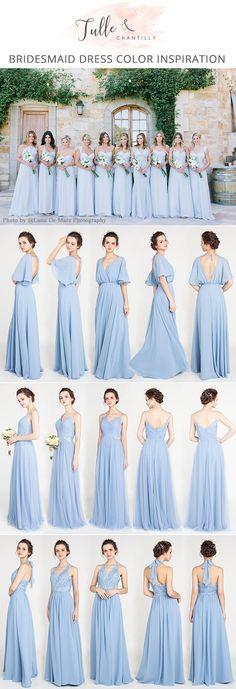 light blue bridesmaid dresses for 2018 #bridalparty #bridesmaiddresses #blueweddings #weddingcolors