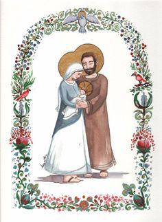 Sainte Famille : aquarelle de Laure Th. Chanal