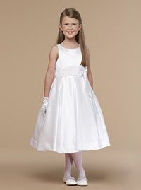 Flower Girl Dresses - Us Angels Flower Girl Dress Style 281 - SALE White size 5 (1 piece available)