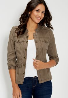 military jacket (original price, $44.00) available at #Maurices