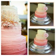 Ombre wedding cake i copied mines on the right.