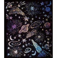Scratch & Sparkle Glitter Board | whatgiftshouldiget.com