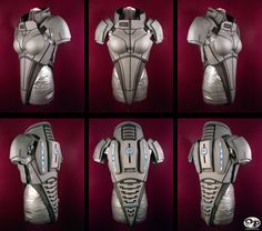 WIP - Female version of Armor from Mass Effect Day Back torso section now complete (except for painting) Crafted in EVA sheet Foam. Mass Effect 2 WIP Armor 2 N7 Armor, Combat Armor, Body Armor, Armor Tattoo, Norse Tattoo, Viking Tattoos, Cosplay Armor, Cosplay Diy, Larp