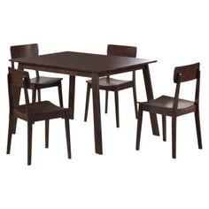 5 Pc Torino Dining Set - Cappuccino - Target (N/A, $187.99)