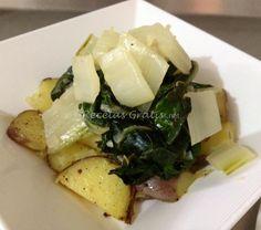 Receta de Ensalada caliente de acelgas con patatas