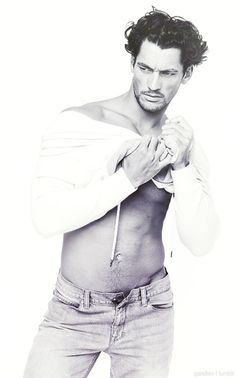Oh, Gandy!!!!- unbuttoned jeans like Christian Grey.