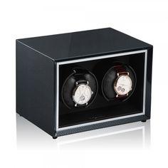 Watchwinder voor 2 horloges werkt op batterijen of via adapter http://www.modalo.be/watch-winder-2/281-watchwinder-horlogewinder-horlogeopwinder-352011-voor-breitling-cartier-hublot-iwc-omega-rolex-tag-heuer-zenith-enz.html