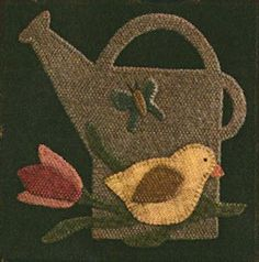 Wool & Needle Block of the Month – April from Buttermilk Basin. Finished Size: 12in x 12in. Center design 8in x 8in