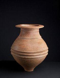 Jar Earthenware, Yayoi period (ca. B.C.300 – A.D.300) H 44.5cm Dia. 35.5cm.