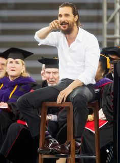 The most inspiring celeb commencement speeches: Matthew McConaughey.