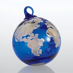 One World by Glass Eye Studio: Art Glass Ornament available at www.artfulhome.com $68USD