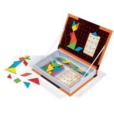 magnet box for tangrams. Act For Kids, Games For Kids, Tangram Puzzles, Operation Christmas Child, Preschool Printables, Puzzles For Kids, Inspiration For Kids, Educational Games, Wood Toys