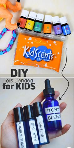 Homemade KidScents essential oil copycat recipes. The perfect oils for kids.