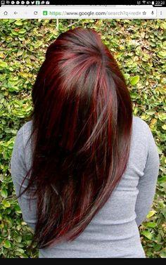 Long brown hair. Red low lights. Hair cut next week. Looking for ideas