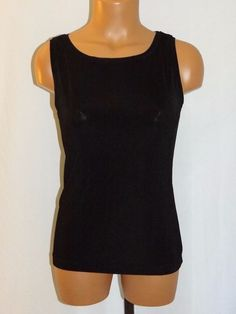 389a1cd62a8c2 Chico s Travelers Sleeveless Tank Top Shirt Size 0 XS Black