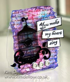An inky ATC from www.kimdellow.co.uk