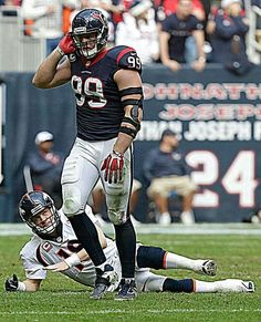 97a1c24535be1e Putting Peyton Manning on the ground. Just a normal day for JJ Watt. Jj