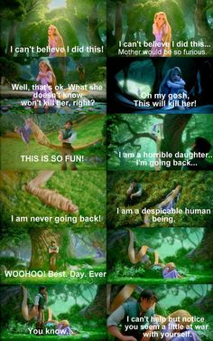 Tangled! totally feel like this sometimes!