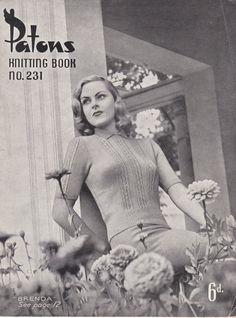 Vintage 1940s  Paton's Knitting Pattern No 231 by jennylouvintage