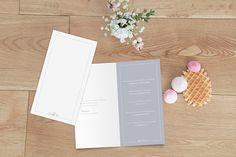 menu de mariage classique liseré (4 pages) par Marianne Fournigault pour www.rosemood.fr #mariage #menu #wedding
