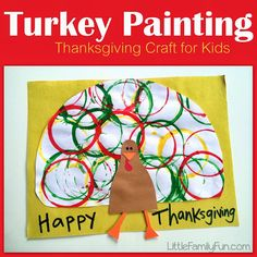 Turkey Painting. Fun and simple craft for Thanksgiving!