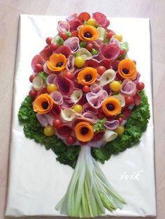 Bouquet jardinière et charcuterie