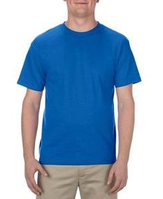 Royal Bleu Fruit Of The Loom Blank Plain Heavy Cotton t-shirt-Manches Courtes Haut