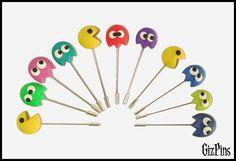 """Alfileres de novia """"Pacman"""". Solicita tu catálogo con toda la info a gizpins@hotmail.com También en www.gizpins.es"""