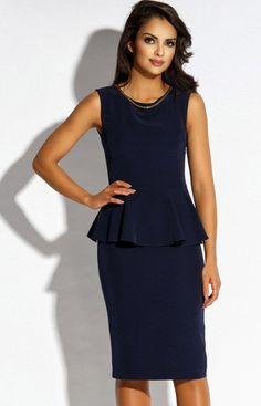 67632b09db Dursi Mila sukienka granatowa - Sukienki ołówkowe - Sukienki - MODA DAMSKA  - Sklep internetowy