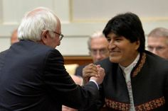 """The Bolivian president, Evo Morales, has said that an unexpected meeting at the Vatican with US presidential contender Bernie Sanders had demonstrated a """"thirst for a different kind of democracy"""" in the US. While Sanders' meeting with Pope Francis was his highest profile encounter with a foreign leader during his Vatican visit last week, the ..."""