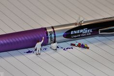 tiny side paints pentel pens