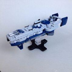 Lego Spaceship, Spaceship Concept, Nave Lego, Star Wars Spaceships, Micro Lego, Space Engineers, Capital Ship, Lego Ship, Lego Craft