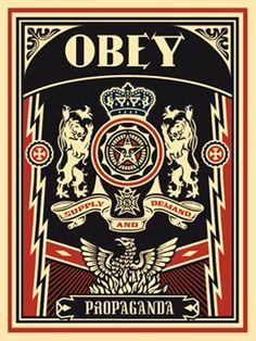 by Shepard Fairey / Obey - Obey Lions, 2004 Shepard Fairey Art, Dragon Tattoo Sketch, Shepard Fairy, Obey Art, Propaganda Art, Arte Pop, Art Moderne, Cool Posters, Russian Art