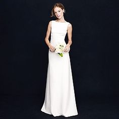 Percy gown. Something similar but with a mesh/lace overlay boatneck instead of full coverage