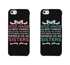 Cute BFF Phone Cases - God Made Us Best Friends Phone Covers for iphone 4, iphone 5, iphone 5C, iphone 6, iphone 6 plus, Galaxy S3, Galaxy S4, Galaxy S5, HTC M8, LG G3 by 365inlove