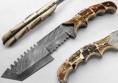 "11,50"" Custom Made Damascus kife hunting tracker"