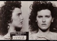 """Young L.A. Girl Slain; Body Slashed in Two"" -L.A.'s Daily News  On January 15, 1947, the remains of Elizabeth Short, were found in a vacant lot in Los Angeles. What made this discovery the stuff of tabloid sensation, however, was the Glasgow smile left on the aspiring actress' face--made with 3-inch slashes on each side. This, coupled with Short's dark hair, fair complexion and reputation for sporting a dahlia in her hair, dubbed her ""The Black Dahlia"" in headlines."